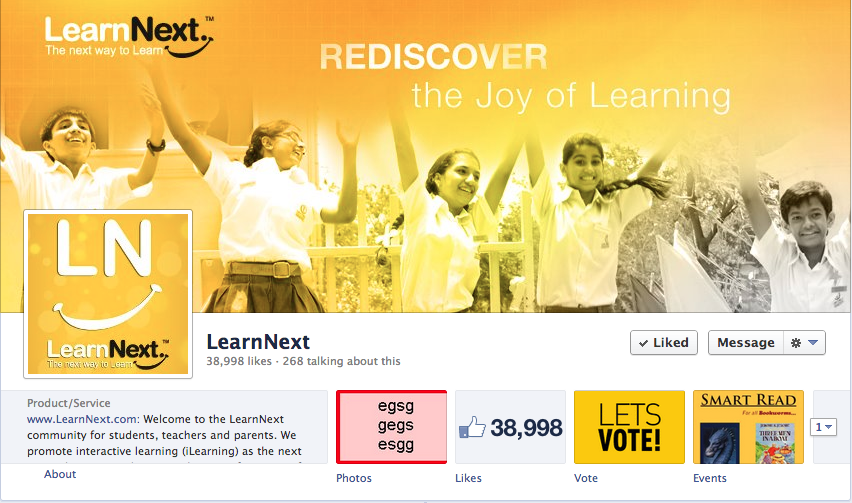LearnNext Facebook Page